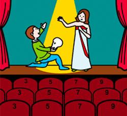 Una representación teatral benéfica